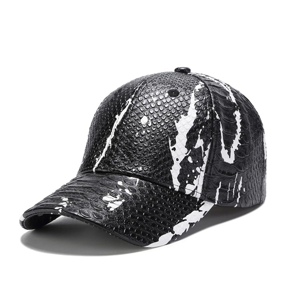 9e48ab43d7e67 Compre Gorra De Béisbol De Cuero De Piel De Serpiente De PU De Alto Nivel  Ajustable En Blanco Gorras Snapback Hat Hip Hop Casquette Golf Caps Para  Hombres ...
