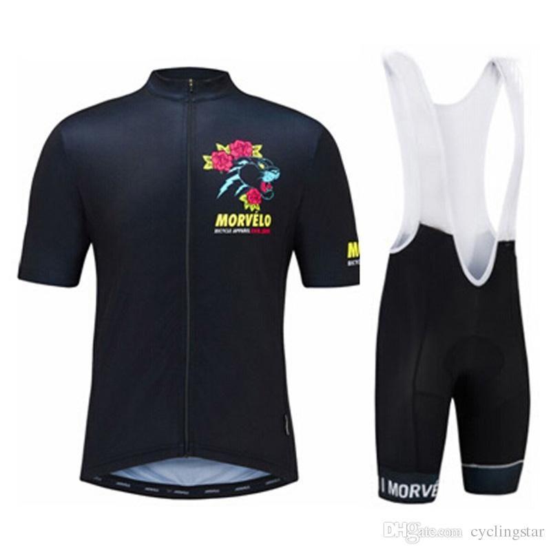 Morvelo Team Cycling Short Sleeves Jersey Bib Shorts Sets Cycling Clothing  Breathable Outdoor Mountain Bike Sportswear 82106Y Morvelo Cycling Jerseys  Bike ... 3bc260384