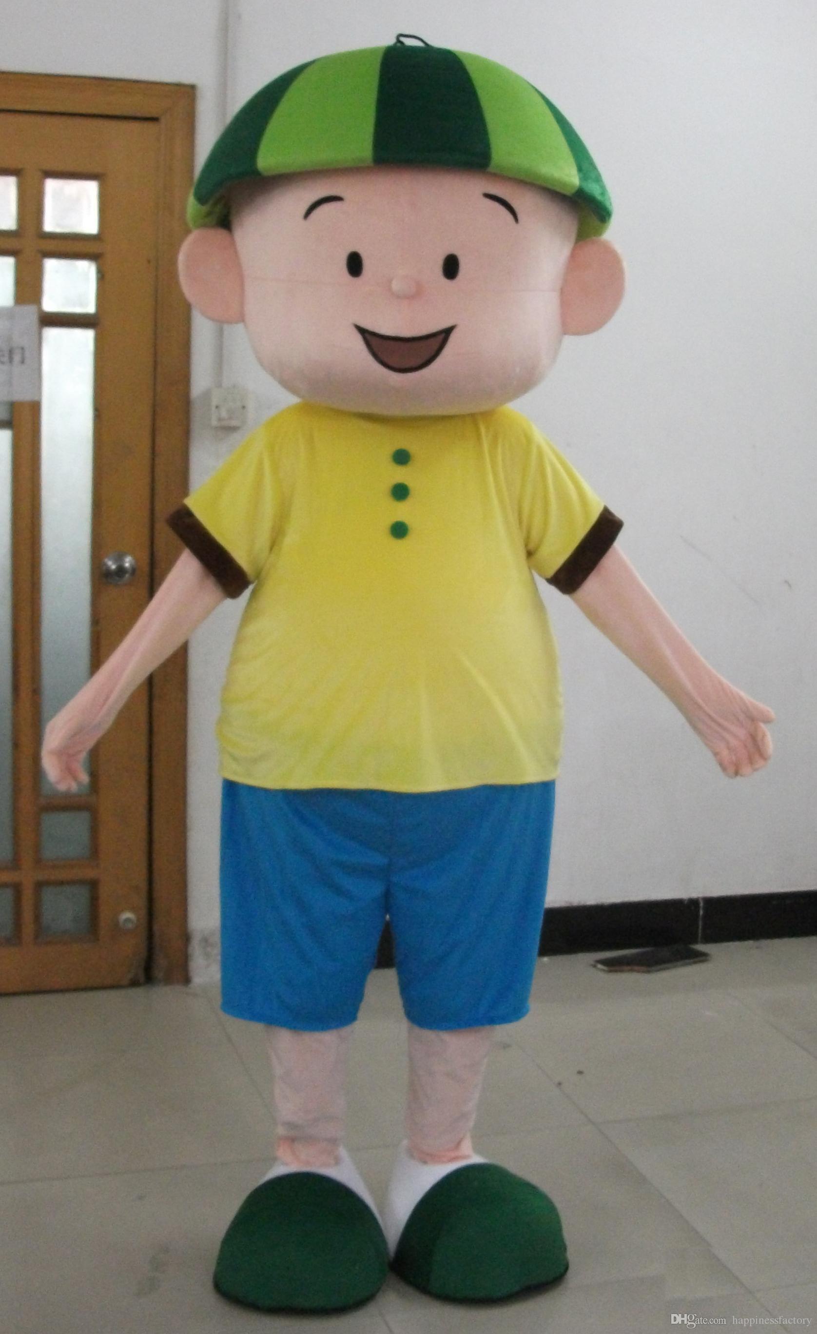 yellow shirt blue pants