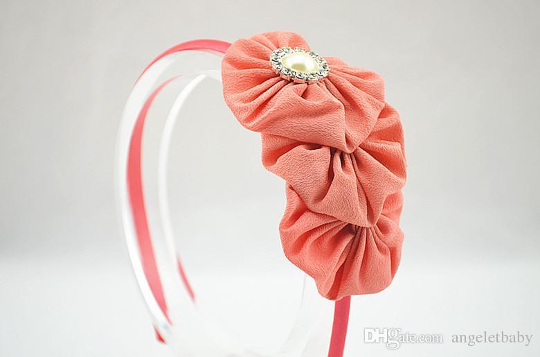bear Hairbands crown gauze hair accessories for the beautiful girl Princess cartoon arches of hoop bands headband FG030-2