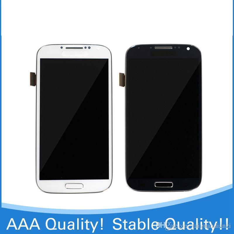 TOP quality S4 LCD Display For SAMSUNG GALAXY s4 gt-i9500 i9505 i9515 i919 i747 LCD Display Touch Screen Digitizer with frame