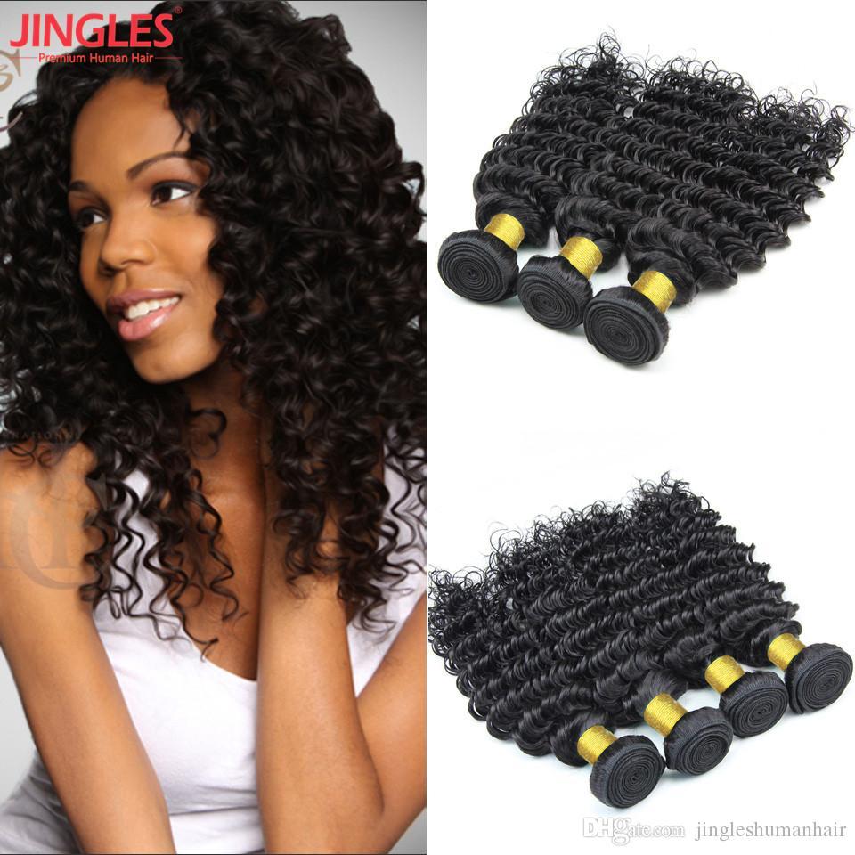 8 26 Inch Deep Wave Brazilian Virgin Hair Bundles Human Hair Weave