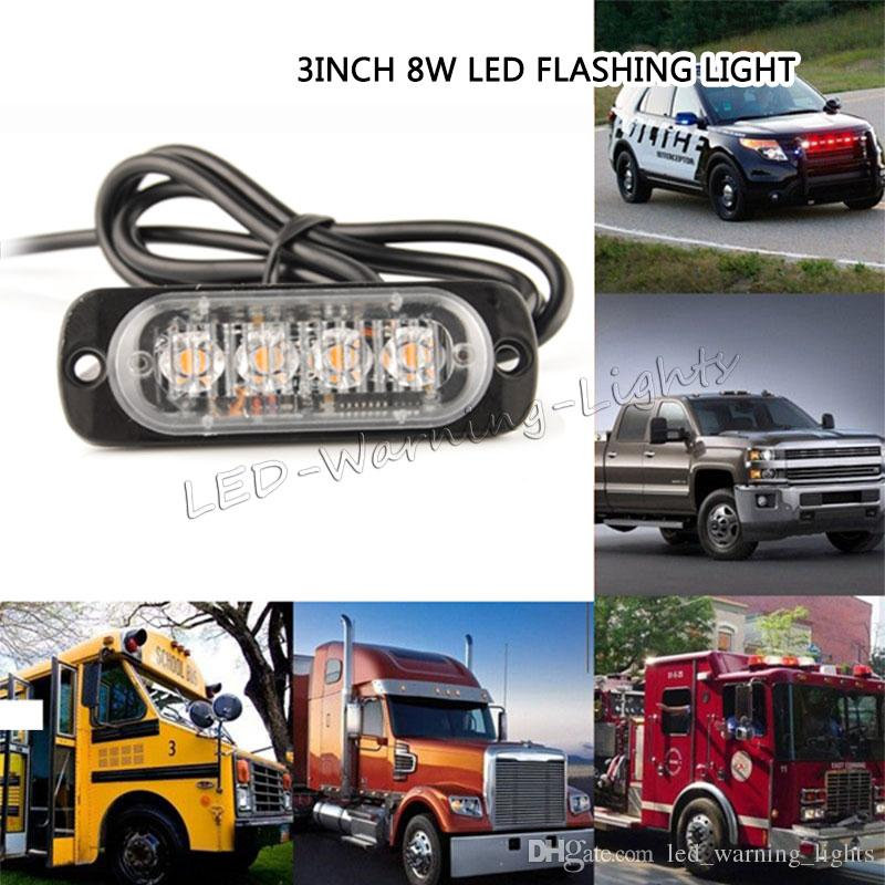8w led strobe light amber safety emergency warning light for 4x4 8w led strobe light amber safety emergency warning light for 4x4 pickup truck trailer vehicles heavy duty trucks flash grille light warning light led aloadofball Images