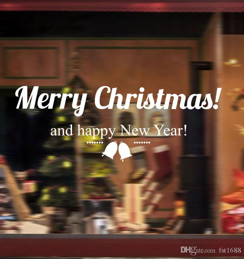 Großhandel Diy Kreative Schriftzug Frohe Weihnachten Aufkleber ...