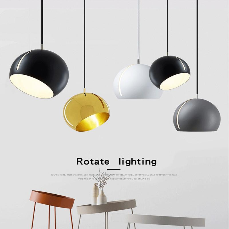 Modern Pendant Lamp Metal Globe Pendant Light Hanglamp Kitchen