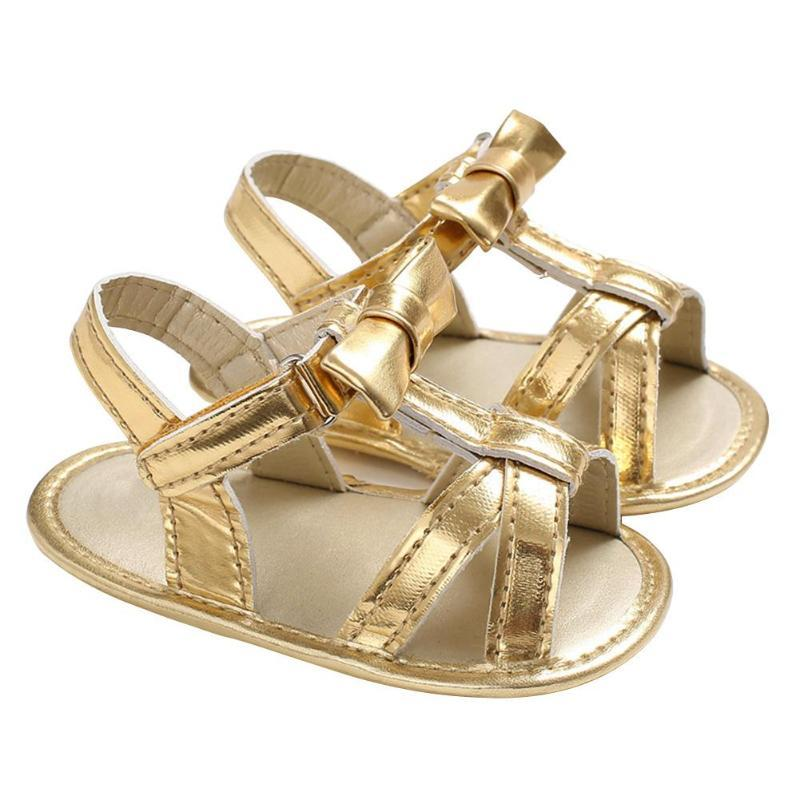 4f902336294 Baby Girls Sandals Fashion Gold Spring Summer Prewalker Newborn Casual Soft  Sole PU Shoes Anti Skid Shoes For Girls Beach Boys Shoes Sale Online Clogs  For ...
