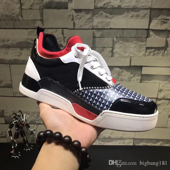 Mixte 46 Noir Designer Blanc Haut Homme Nouveau Chaussure Rouge 38 Marque Taille Casual Plat Baskets Dentelle Couleurs Bas Nom Sneaker 3KJcuTFl1