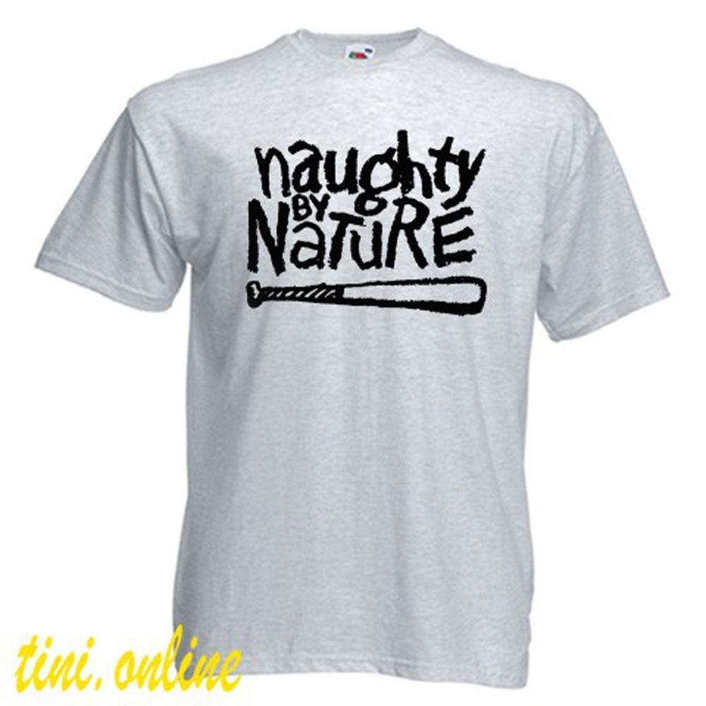 New NAUGHTY BY NATURE Rap Hip Hop Music Logo Men s Grey T-Shirt Size S to  3XL