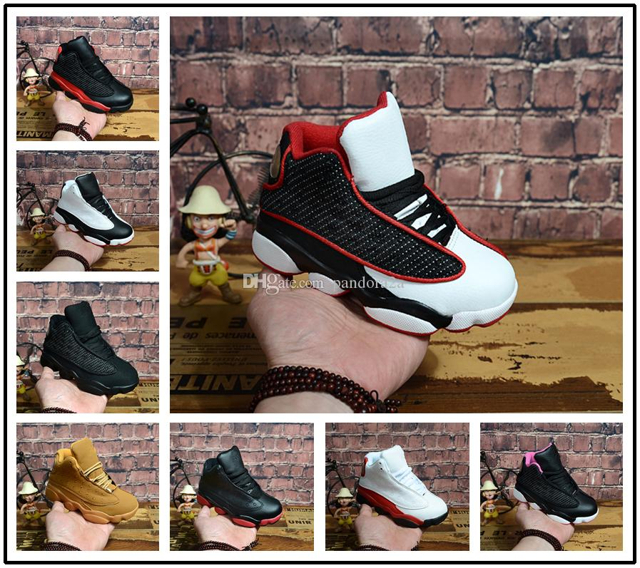 cheap for discount 0e0a5 1f8bb New Kids 13 13s basketball shoes Chicago He got game Bred altitude DMP boys  girls sneakers children baby sports shoes size 11C-3Y