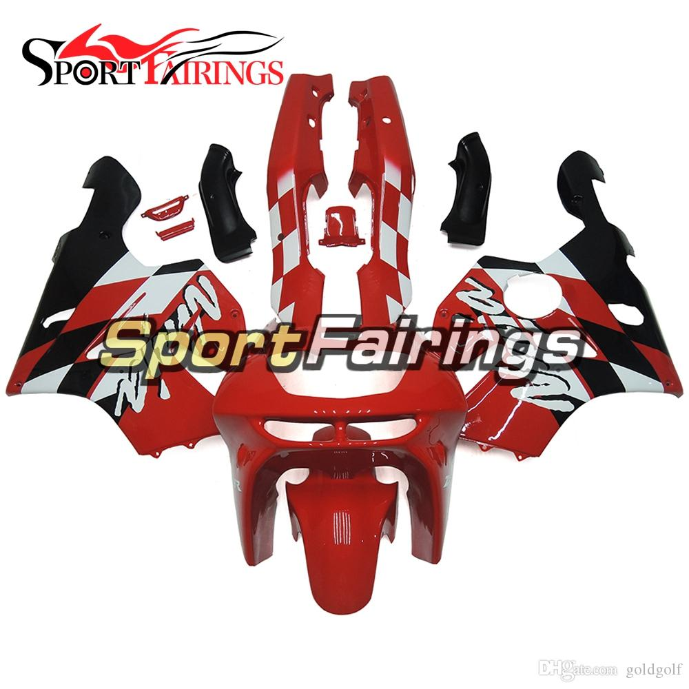Complete Fairing Kit For Kawasaki ZX6R Year 1994 1995 1996 1997 Sportbike ABS Motorcycle Fairing Kit Bodywork Red Black Body Kit Hull