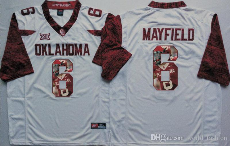2019 6 Baker Mayfield Klahoma Sooners White Limited Men Football Jersey  Mens College Football Jerseys Size S XXXL From World fashion 17d527806