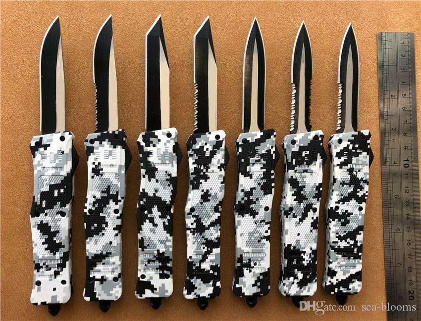 8 inches Medium 616 D/A auto knives Winter Digital Camo self defence A161 EDC camping tools Survival gear Auto knife knifes