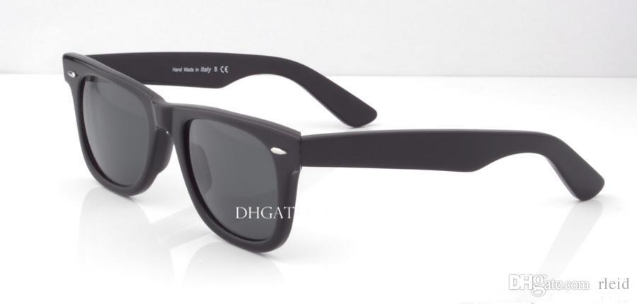 Top Quality Plank Frame G15 Glass Lens Sunglasses Womens Mens Sunglasses Eyeglass UV400 Hinge Big 52MM 54MM Vintage Eyewear With Case Box