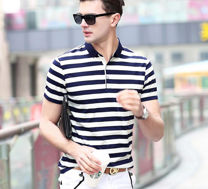 1c095d85d2f 2019 New Mens T Shirt Short Sleeved Tide Brand Classic Polo Shirt Hot  Selling Striped Tops For Men From Yoursuger