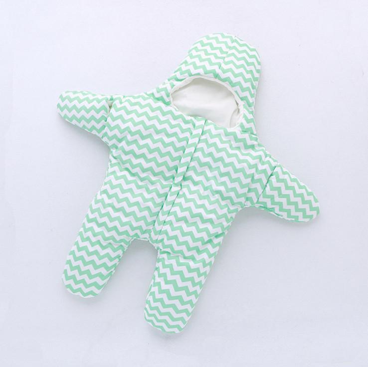 PROSEA Newborn Baby Cute Starfish Warm Sleeping Bags Boys Girls Swaddling Kids Warm Sleepsacks Quilt Spring Autumn Winter