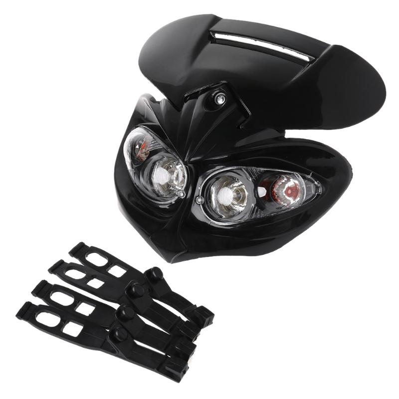 Universal Motocross Headlight Fairing Head Lamp High / Low Beam Street Fighter