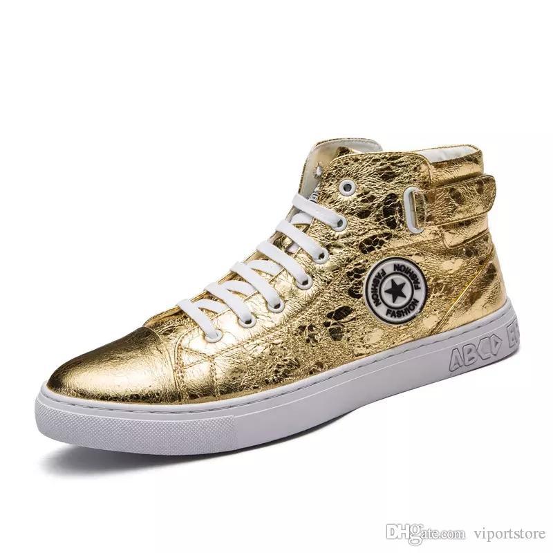 ede3d2329f4fc Compre Zapatillas Planas Populares De Canadá Hombre Hombre Mujer Oro Plata  Negro Blanco Casual Zapatillas De Deporte Al Aire Libre Monopatín Michael  Jackson ...