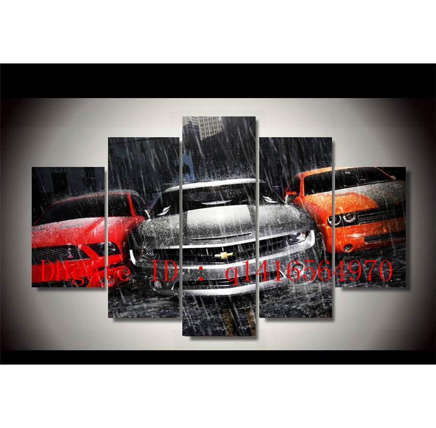 2018 Chevrolet Muscle Cars,Canvas Prints Wall Art Oil Painting Home ...