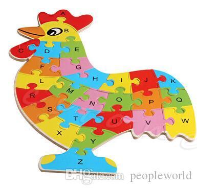 أطفال جدد أحجية حيوانية صغيرة بأرقام أبجدية جيغسو تعلم مجموعة ألعاب تعليمية مثيرة