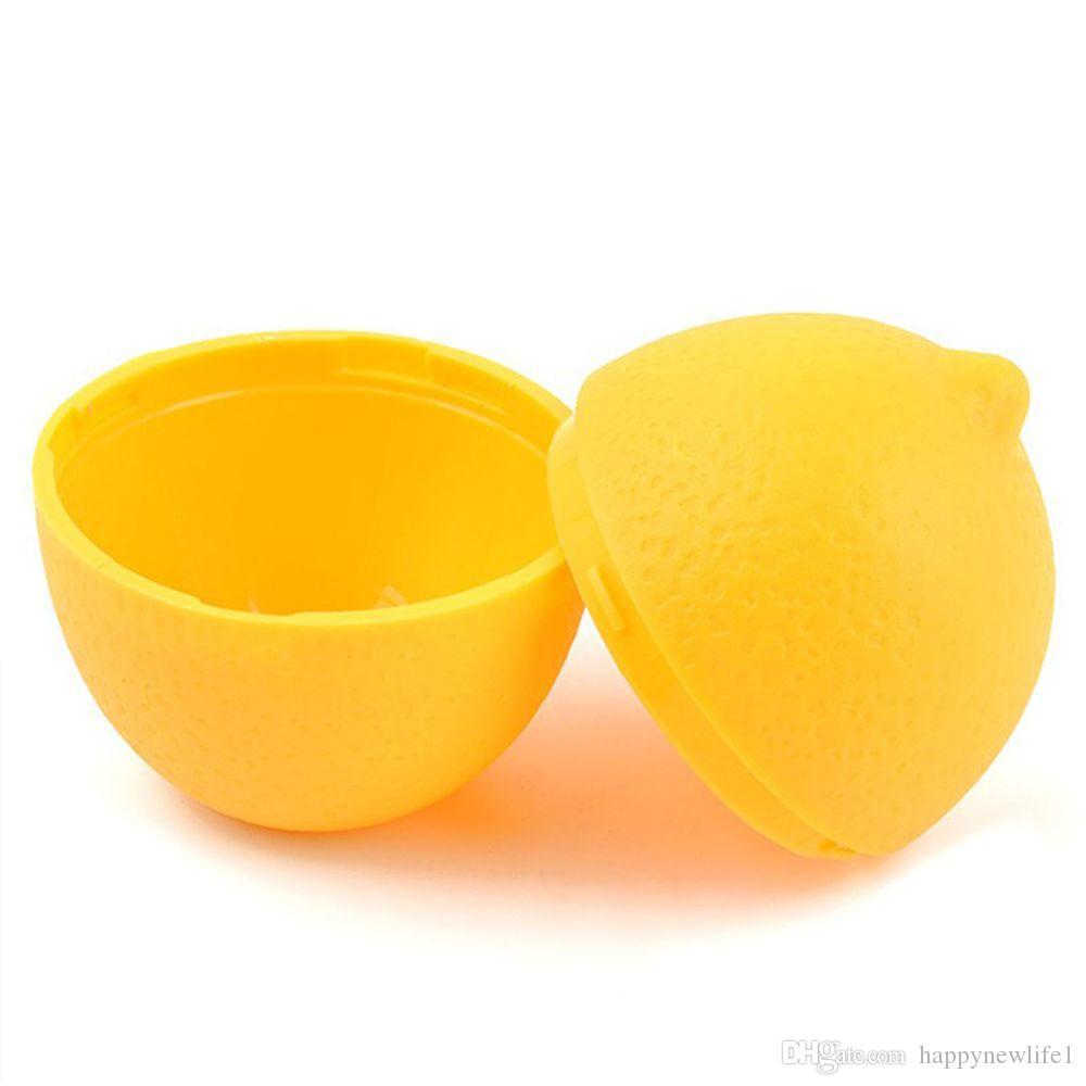 1 pz Nuovo Riutilizzabile Scatola di Conservazione Fresca Limone Lime Saver Contenitore di Plastica Holder Lampadina A Forma di Moist Assortiti Cucina Frigorifero