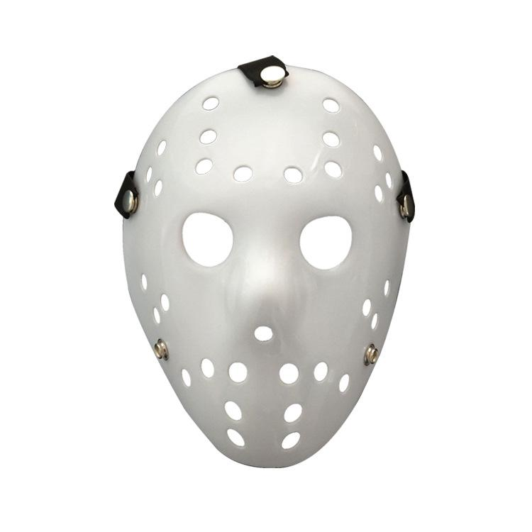 Halloween Hockey Masker.Halloween Mask Jason Voorhees Friday The 13th Horror Movie Hockey White Mask Scary Masquerade Costume Decor Ffa778