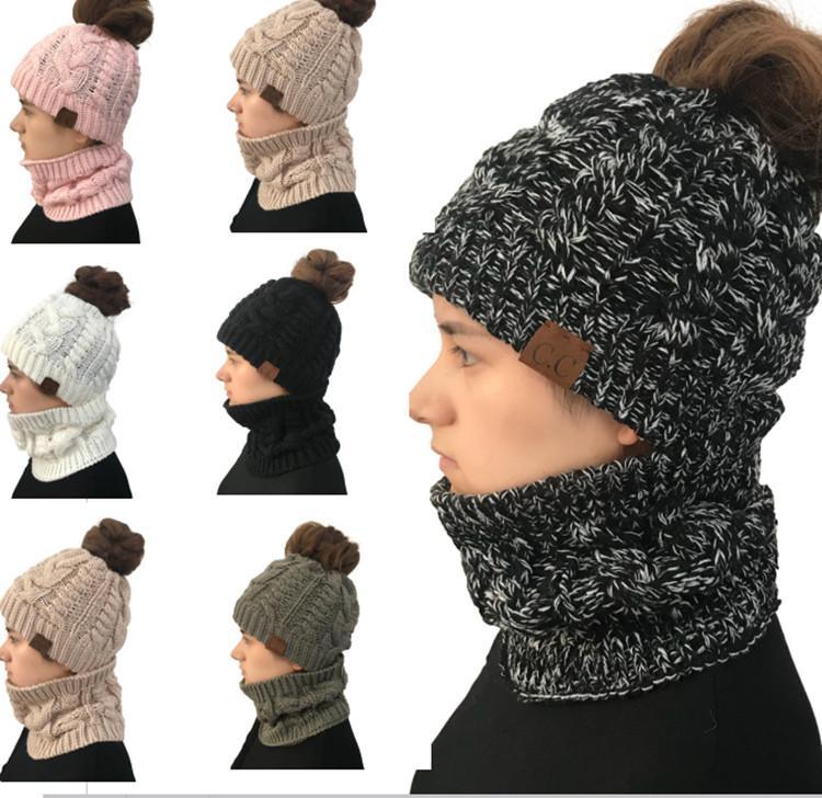 Großhandel Frauen Cc Pferdeschwanz Hüte Mit Kreis Schal Stellt ...
