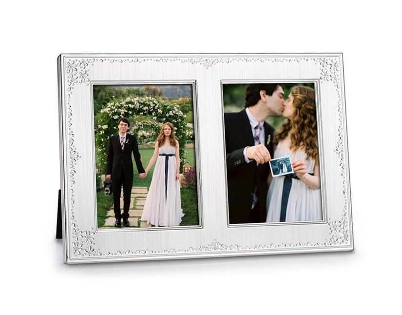 2018 Double 5x7 Opening Invitation Wedding Photo Frame Seed Pearl ...