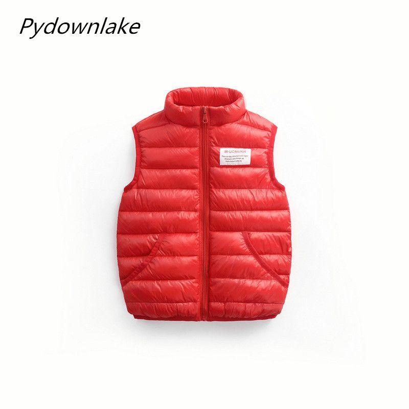 82a54f85b329 Spring Autumn Winter Children Waistcoat Boys Girls Thick Vest Coat ...