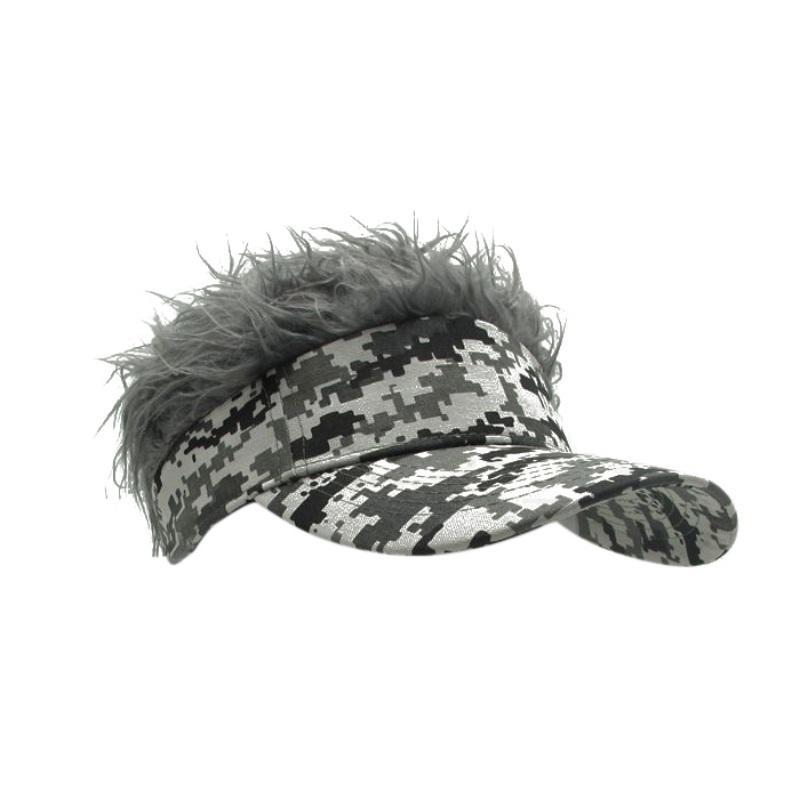 2019 Personalized Warm Hair Cap Funny Sun Visor Men S Hats Outdoor Men S  Hair Wig Fall Cool Gifts 2018 New From Miaoshakuai 13dc68becf1