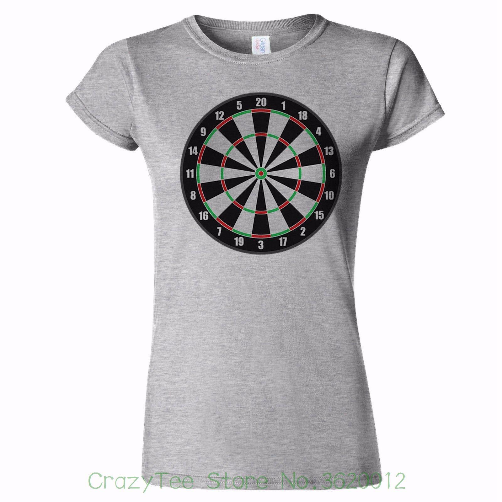 ffdce7151a Women S Tee Dartboard Logo Womens T Shirt Van Gerwen Love Darts Dart Fan  Gift Present Interesting Pictures Funky T Shirts Cool T Shirt From  Crazyteestore