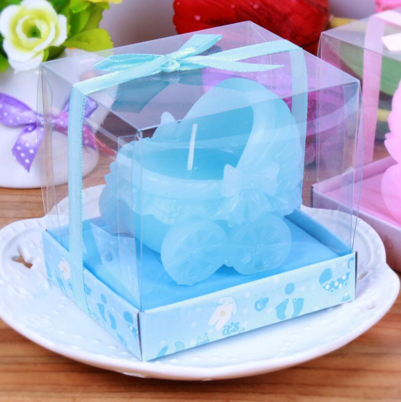 Creative Baby Stroller Candles Childrens Day Party Souvenir Gift