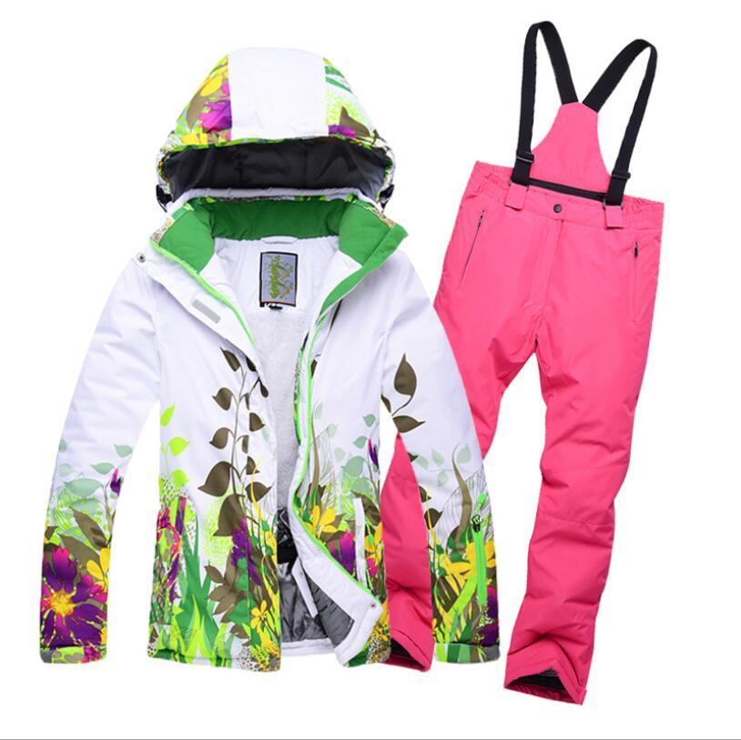 c1a73a0f8 2019 Boys Girls Ski Jacket Pant Skiing Snowboard Suit Windproof ...
