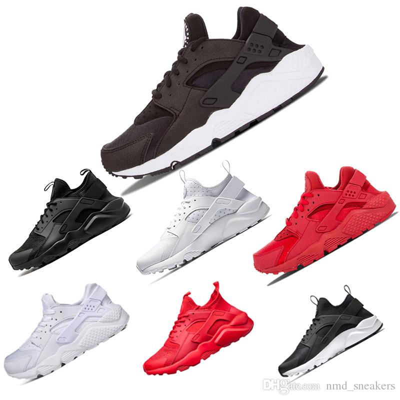 e365554c8 Venta al por mayor Huarache Ultra Run zapatos triple blanco negro hombres  mujeres zapatillas rojo gris Huaraches deporte zapato para mujer para  hombre ...