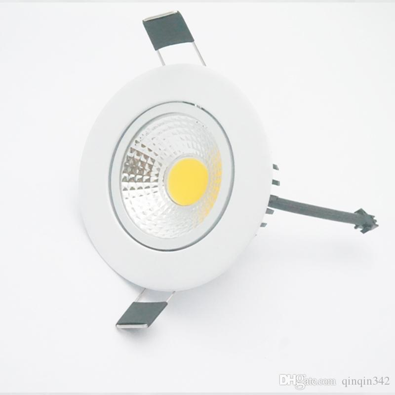 5W 7W 9W 12W Dimmable LED Downlight 110v 220v Spot LED DownLights Wholesale Dimmable cob LED Spot Recessed down lights white