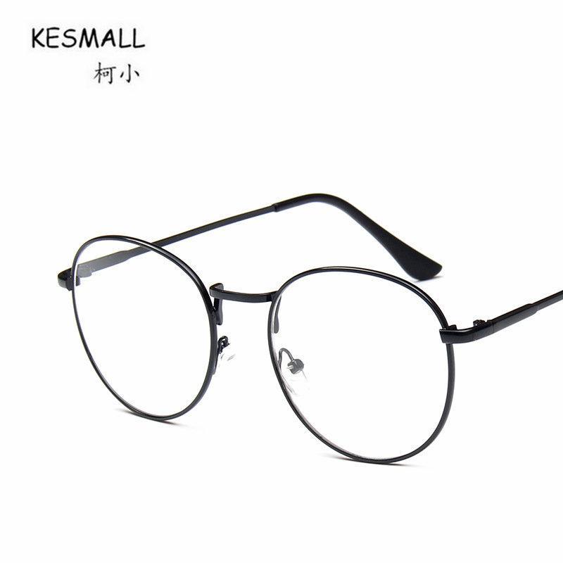 911efe3f8 Compre KESMALL 2018 Kroean Retro Óculos De Armação Homens Negros Miopia  Óculos Frames Mulheres Óculos De Leitura Moda Lunettes Rondes XN170 De  Juemin, ...