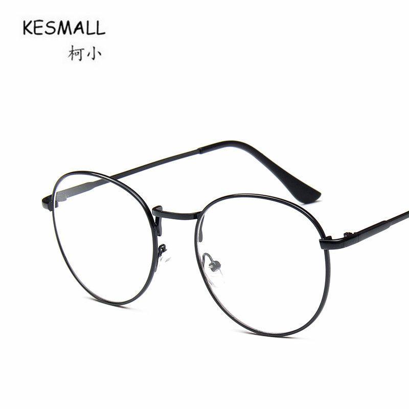 f989c2c2a3 KESMALL 2018 Kroean Retro Glasses Frame Black Men Myopia Eyeglasses ...