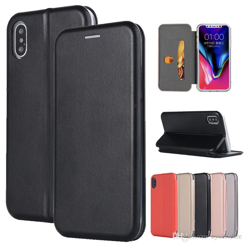 new arrival b85a1 9f85a For iPhone X 8 7 7 Plus 6 Stand Flip Wallet Leather Skin Case Phone Cover  With Card Slot Photo Frame High Qyuality