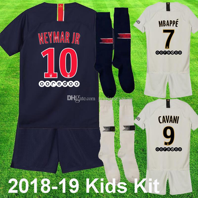 info for c220a 03a7f MBAPPE Kids Kit 2018 2019 Paris CAVANI DI MARIA NKUNKU Soccer Jersey CAVANI  DANI ALVES Child maillot de foot Youth Football Uniform