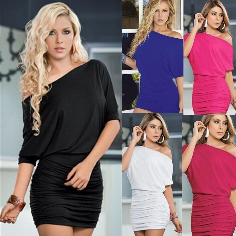4f8908e4a5dd Acquista Vestito Attillato Da Discoteca Vestito Da Spalla Femminile Da  Donna Sexy Di Ultima Moda A  34.18 Dal Mysummerday