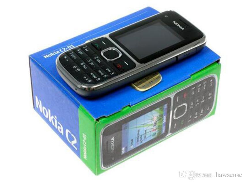 Remis à neuf Original Nokia C2-01 Déverrouillé 2.0 pouce Écran Bar Téléphone Mobile GSM WCDMA 3G 3.2MP Caméra FM MP3 MP4 Téléphone Portable Free Post