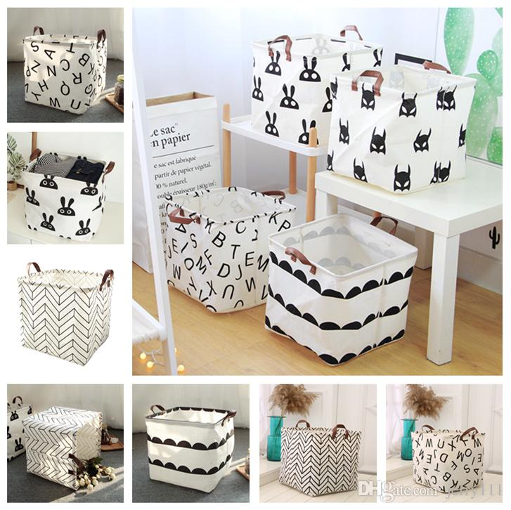 2409372091 2019 Collapsible Fabric Laundry Basket Foldable Canvas Laundry ...