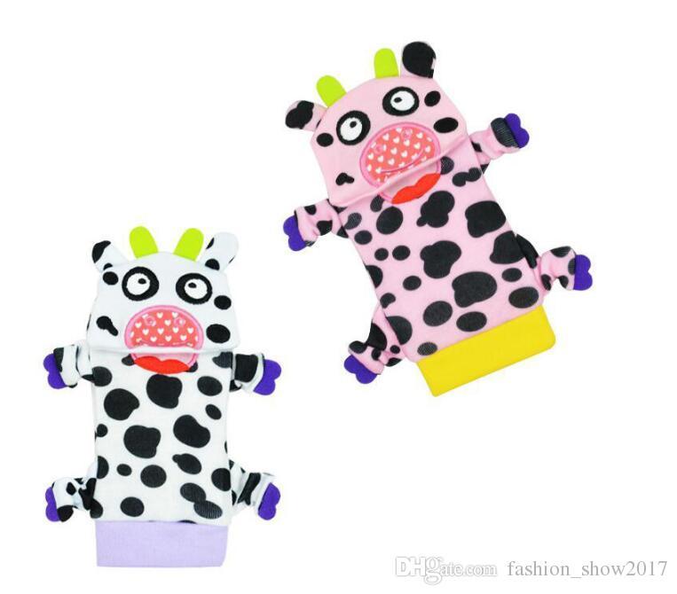 SOZZY Cute Wrist Band Rattle Foot Socks Ring Bell Colorful Infant Baby Developmental Toy Plush Newborn Soft Doll