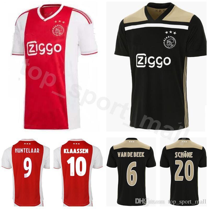 f67837101 2018 Afc Ajax Soccer Jersey 18 19 Men 20 Schone 6 Van De Beek 3 Veltman 18  Bande 11 Tadic Football Shirt Kit Uniform From Top sport mall