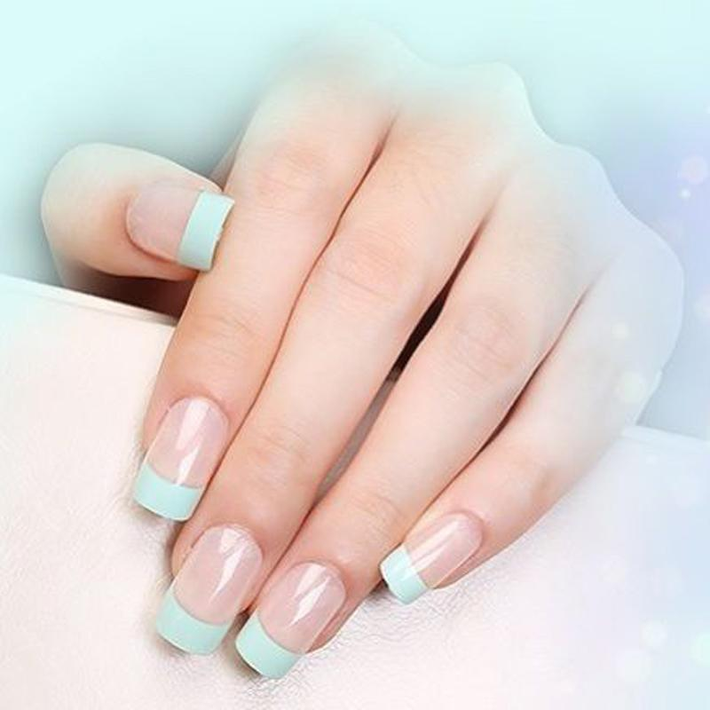 French Manicure Strip Nail Art Form Fringe Guides Water Transfer ...