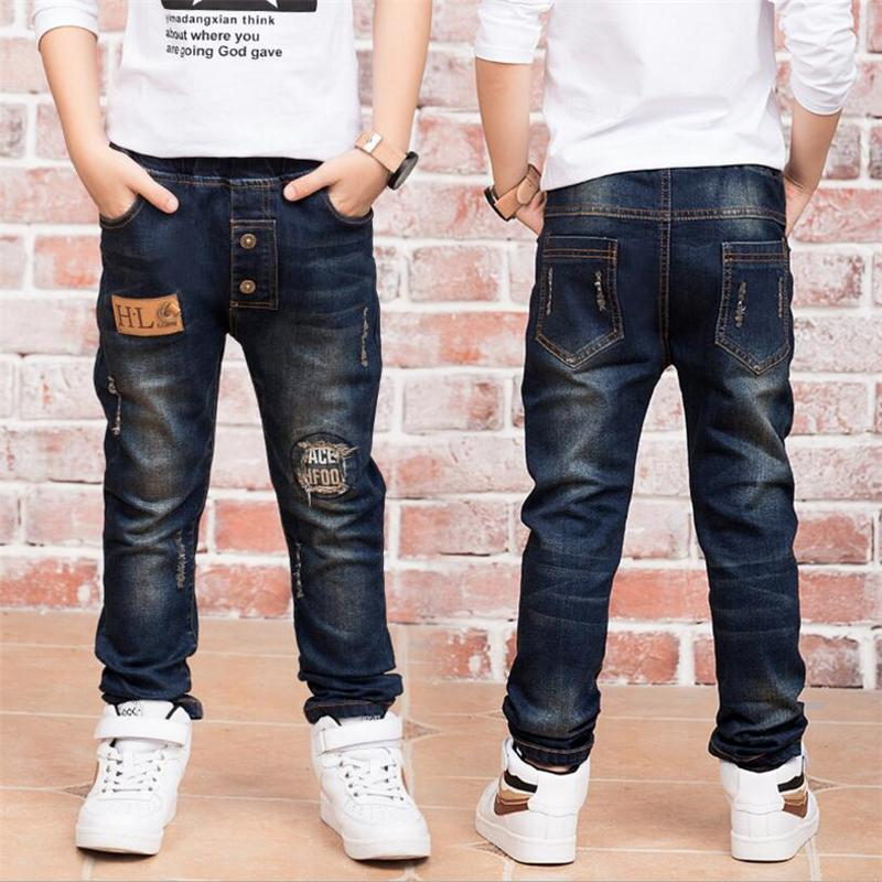 Children zipper jeans, boys pants fit for spring baby boys jeans children trousers 3 4 5 6 7 8 9 10 11 12 13 14 years old 86190