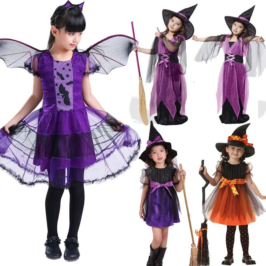 6c88bb614ef0 Halloween Costumes For Children Kids Witch Costume Fancy Fantasia ...