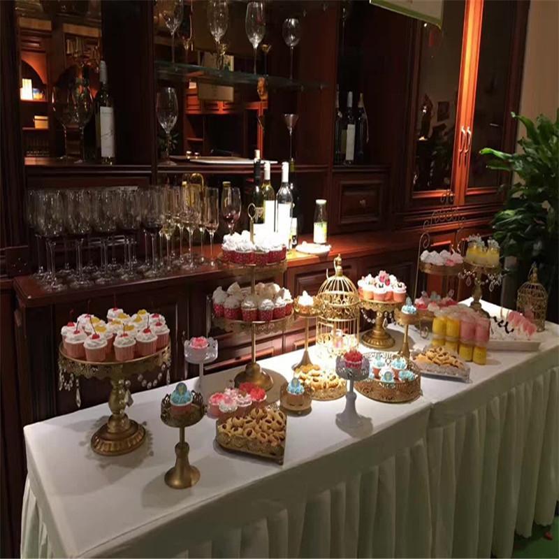 Grosshandel Dhl Set Von 12 Stuck Gold Kuchen Stand Hochzeit Cupcake