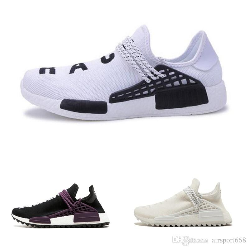 213c4ce3da6e6 Human Race Running Shoes Pharrell Williams Hu Trail Cream Core Black Nerd  Equality Holi Nobel Ink Trainers Mens Women Sports Sneaker Men Running Shoes  Best ...