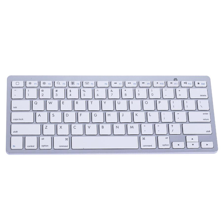 New Aluminum Ultra Slim Mini Wireless Bluetooth Keyboard Original Keyboard for Windows/Android/IOS/PC/Smart Phones