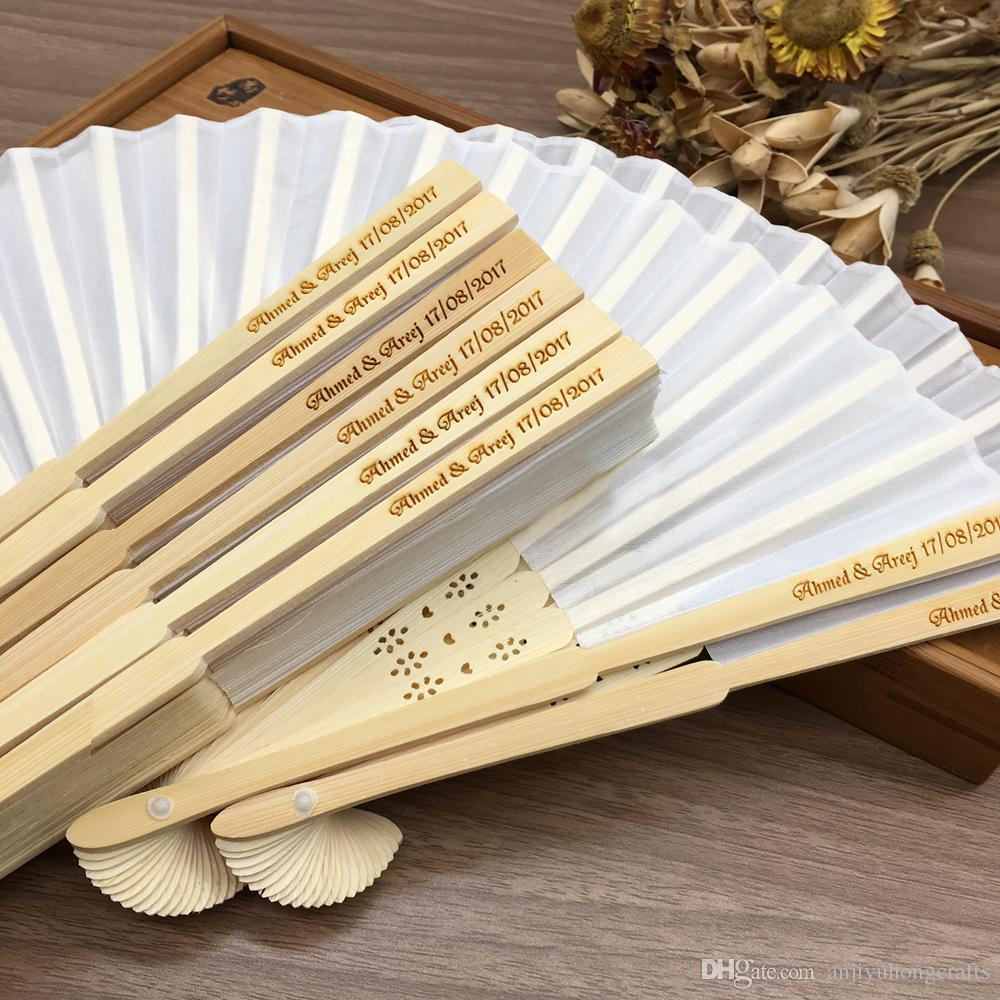 Wedding Ideas For 30 Guests: Customized Printing Hand Fans Spun Silk Wedding Fans With